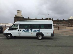 race day bus hire in Deeside